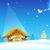 születés · Jézus · angyal · bejelent · jó · hírek · égbolt - stock fotó © vectomart