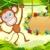 jumping monkey stock photo © vectomart