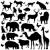 animal silhouettes stock photo © vectomart