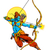 łuk · arrow · szczęśliwy · festiwalu · ilustracja · tekst - zdjęcia stock © vectomart