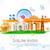 Hindistan · örnek · dalgalı · Hint · bayrak · arka · plan - stok fotoğraf © vectomart