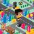 multidão · cidade · pessoas · caminhada · rua · bebê - foto stock © vector1st