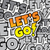 cartoon comic text lets go stock photo © vector1st