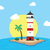 plaj · manzara · manzara · deniz · yaz · palmiye - stok fotoğraf © vector1st