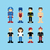 pixel people avatar set stock photo © vector1st
