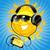 rajz · nap · fejhallgató · zene · égbolt · boldog - stock fotó © vectorArta