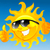 Cartoon · sol · gafas · de · sol · feliz · pulgar · hasta - foto stock © vectorArta