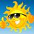 rajz · nap · napszemüveg · boldog · hüvelykujj · felfelé - stock fotó © vectorArta