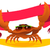 crab with ribbon stock photo © vectorArta