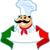 olasz · szakács · szakács · címke · színek · szalag - stock fotó © vectorArta