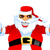 legal · papai · noel · natal · desenho · animado · óculos · de · sol - foto stock © vectorarta