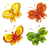 set of decorative ornament butterflies stock photo © VectorFlover