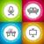 mor · ofis · koltuğu · ikon · renkli · dizayn · stil - stok fotoğraf © vectorminator