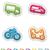 diferente · coche · fondo · marco · autobús · bicicleta - foto stock © vectorminator