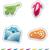 zodíaco · adesivos · conjunto · sinais · adesivo · estilo - foto stock © vectorminator