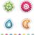 zodiaco · set · segni · adesivo · stile - foto d'archivio © vectorminator