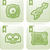 alto-falante · ícones · verde · volume · controlar · computador - foto stock © vectorminator