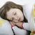 Little girl sleeping in bed stock photo © velkol