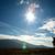 hombre · colina · imagen · silueta · sol · paisaje - foto stock © velkol