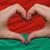 over national flag of belarus showed heart and love gesture made stock photo © vepar5