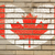 heart shape flag of canada on brick wall stock photo © vepar5