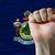 Maine · bayrak · bulutlar · dalga · rüzgâr - stok fotoğraf © vepar5