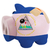 closed piggy rich bank with bandage in colors national flag of n stock photo © vepar5