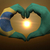 heart and love gesture by hands colored in brazil flag during be stock photo © vepar5