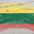flag of lithuania on grunge wooden texture painted with chalk   stock photo © vepar5
