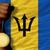 voetbal · vlag · Barbados · 3d · illustration · voetbal · sport - stockfoto © vepar5