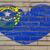 zászló · Nevada · csillagok · kék · piros · szél - stock fotó © vepar5