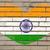 bandeira · Índia · parede · de · tijolos · pintado · grunge · textura - foto stock © vepar5