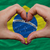 over national flag of brazil showed heart and love gesture made stock photo © vepar5