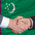 businessmen handshake after good deal in front of turkmenistan f stock photo © vepar5