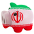 piggy rich bank in colors national flag of iran for saving m stock photo © vepar5