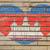 Камбоджа · Гранж · флаг · старые · Vintage · гранж · текстур - Сток-фото © vepar5