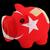 bankrupt piggy rich bank in colors of national flag of turkey stock photo © vepar5