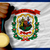 gold medal for sport and flag of american state of west virgini stock photo © vepar5