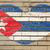 kubańczyk · banderą · starych · papieru · tekstury - zdjęcia stock © vepar5