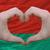 heart and love gesture showed by hands over flag of belarus back stock photo © vepar5