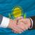 empresários · aperto · de · mão · bom · tratar · país · de · gales · bandeira - foto stock © vepar5