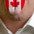 man tongue painted in canada flag symbolizing to knowledge to sp stock photo © vepar5