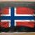 zászló · Norvégia · iskolatábla · festett · kréta · norvég - stock fotó © vepar5