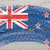 flag of New Zealand on grunge wooden texture painted with chalk  stock photo © vepar5