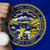 silver medal for sport and flag of american state of nebraska stock photo © vepar5