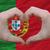 中心 · 愛 · ジェスチャー · ポルトガル · フラグ · 色 - ストックフォト © vepar5