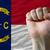 zászló · Észak-Karolina · nagyszerű · részlet · integet · szél - stock fotó © vepar5