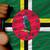 bronze medal for sport and national flag of dominica stock photo © vepar5