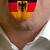 man tongue painted in germany flag symbolizing to knowledge to s stock photo © vepar5