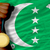 gold medal for sport and national flag of of comoros stock photo © vepar5